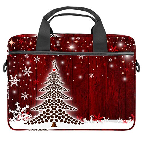 13-14.5 Inch Laptop Sleeve Case Christmas Tree Protective Cover Bag Portable Computer Notebook Carrying Case Briefcase Message Bag