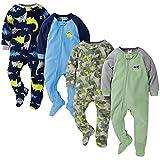 Gerber Baby Boys' 4-Pack Blanket Sleeper, Blue Dinos Green Camo, 12 Months
