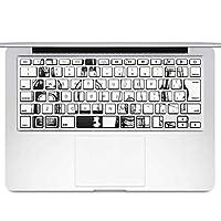 igsticker MacBook Air 13inch 2010 ~ 2017 専用 キーボード用スキンシール キートップ ステッカー A1466 A1369 Apple マックブック エア ノートパソコン アクセサリー 保護 010201 お酒 おしゃれ モノクロ