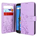Lacass Floral Butterfly PU Leather Flip Wallet Case Cover