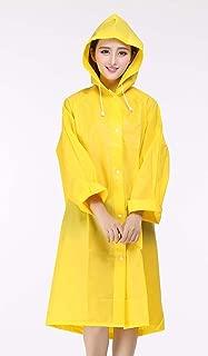 1 x Unisex Raincoat - Translucent Rain Poncho / Reusable Thicken Rainwear / Dull Polish Waterproof Jacket with Hoods