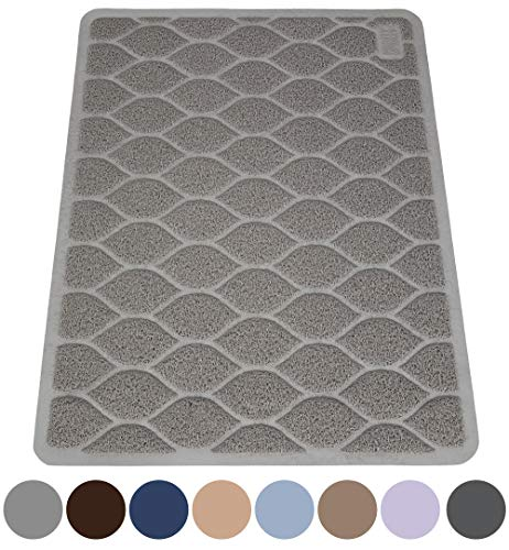 MIGHTY MONKEY Premium Cat Litter Trapping Mat, Phthalate Free, Best Tracking Scatter Control for Cats, Jumbo XL, Mats Easy to Clean, Rugs Soft on Kitty and Cat Paws