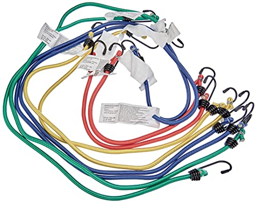 Cartrend 70160 - Set de tensores de equipaje 8-piezas, repelente de agua, resistente a UV, 6 mm