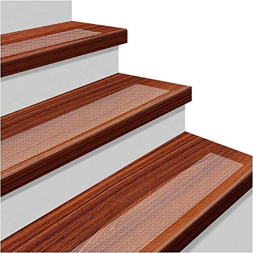 Wuudi 15Stk. rutschfeste Bänder Set Treppen Anti-Rutsch Selbstklebende Stufenmatten transparente rutschfeste Streifen 15x80cm mit 1* Silikon-Roller