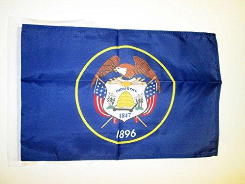 AZ FLAG Drapeau Utah 45x30cm - PAVILLON Etat américain - USA - Etats-Unis 30 x 45 cm Haute qualité