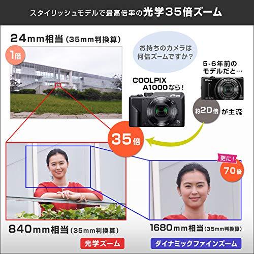 NikonデジタルカメラCOOLPIXA1000SL光学35倍ISO6400アイセンサー付EVFクールピクスシルバーA1000SL