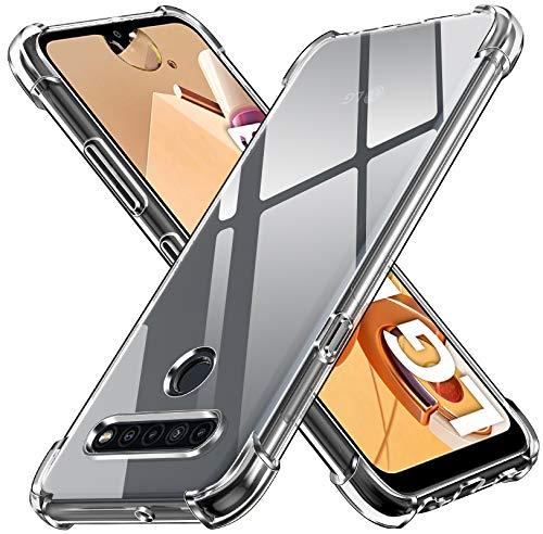 ivoler Klar Silikon Hülle für LG K41S mit Stoßfest Schutzecken, Ultra Dünne Weiche Transparent Schutzhülle Flexible TPU Durchsichtige Handyhülle Kratzfest Hülle Cover