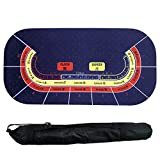 GYFHMY Texas Hold'em Table Mat, Baccarat 10 People Poker Game Tables Suede Rubber Cloth, Waterproof, Carry Bag, Perfect for Casino Player, Home Party