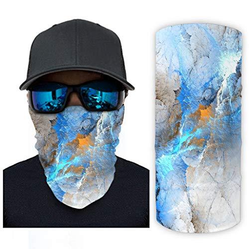 Bohohobo Arte abstracto, zafiro, mármol Novedad Casual Magic Bufanda Sol Protección UV Headwear para Entrenamiento Blanco onesize