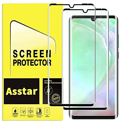 YMH for Huawei P30 Pro Tempered Glass Screen Protector, [Premium Quality] Edge to Edge [Case Friendly] [Full Cover] [3D] Anti-Scratch, Bubble Free, High Definition (2 Pack)
