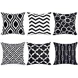 Fentace Kissenbezug 6er Set, Dekorativ Geometrische Muster Sofa Büro Dekor Kissenhülle aus...