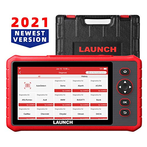 LAUNCH obd2 Scanner CRP909X OE-Level All System car Scanner 16+ Reset IMMO ABS Bleed TPMS SAS Oil DPF EPB Reset,Throttle,Injector Coding,Language Change AutoVIN 7.1 Android One-Click WiFi Free Update