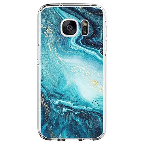 Beryerbi Hülle kompatibel mit Samsung galaxy S7 Weiche Hülle Transparente TPU Silikon für Damen Mädchen Durchsichtig mit Comic Stil Pflanze Handyhülle Silikon Hülle(Samsung galaxy S7, C)
