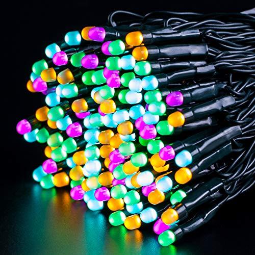 Luci Natale Batteria di Esterno, Ulinek 40M 300LED Luci Colorate Albero di Natale a Batteria Luci Natalizie 8 modalità IP44 Stringa Luci Led per Interno Giardino Camere da Letto Casa Feste