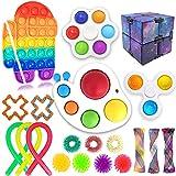 Sensory Fidget Toys Set, 20 Pcs Push Popper pop Autism Special Dimple Sensory Toys Sets for Kids Adults, Simple Dimpler Fidget, Push Bubble Fidget Sensory Toy for Kids Adults