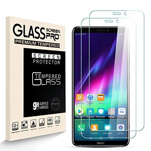 HJX Verre Trempé pour Huawei Honor Note 10 Protecteur D'écran [2 pièces], Dureté 9H, 2.5D Haute Définition, sans Bulle, Résistant à la Rayure Film Protecteur pour Huawei Honor Note 10
