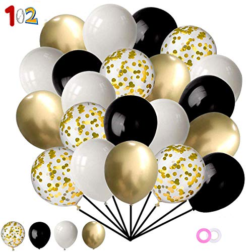 YIKEF 102 Stück Luftballons Rose Gold, Konfetti Luftballons, Ballons Rosegold, Hochzeitsdeko Tisch Partydeko Helium Luftballons für Hochzeit , Geburtstag , Graduierung , Vorschlag, Weihnachten
