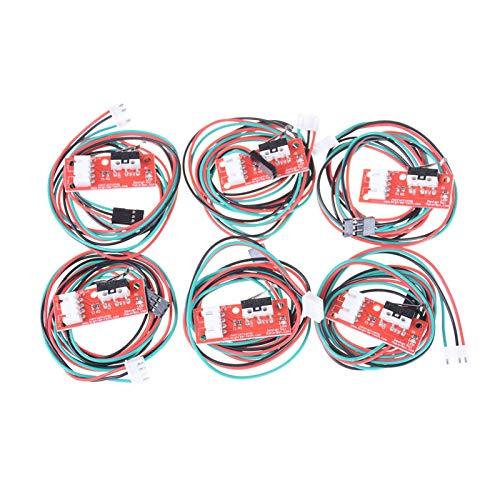 QHMDZ Interruptores de limitación 6 Piezas/Sets Cables de Interruptor de Parada Final Cables Límite de Extremo Mecánico para Las rampas de Impresora CNC 3D al por Mayor