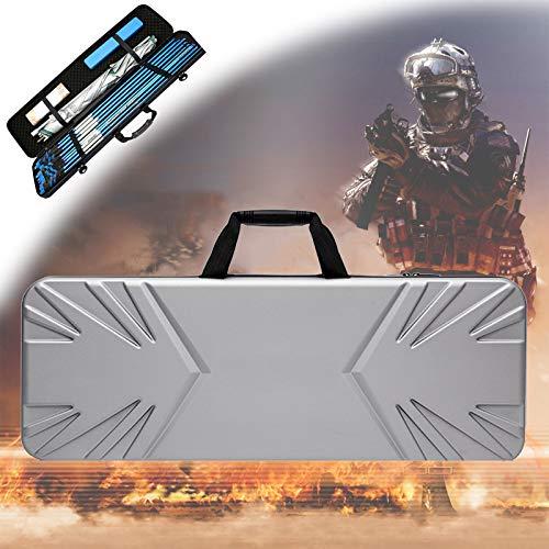 TBDLG Hard Shell Airsoft Case, wasserdichte und Verschleißfeste Taktische Waffentasche, Leichte Angelruten-Tasche für Den Außenbereich, 120 cm Multifunktions-Tasche,90CM