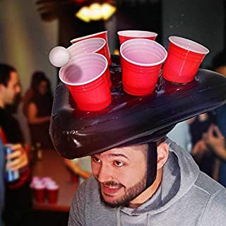 pong head inflatable beer pong hat game