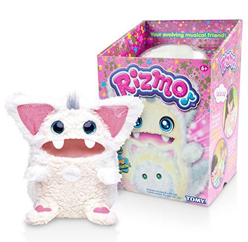 TOMY Rizmo Snow – czarujący przyjaciel muzyki, interaktywna zabawka z funkcjami muzycznymi i 2 poziomami rozwoju, zabawka dla dzieci od 6 lat, dla dziewcząt i chłopców, pluszak