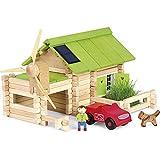 Jeujura - 8071- Jeux de Construction-Le Chalet Ecologique - 145 Pieces