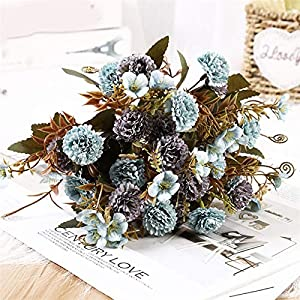 TRRT Fake Plants Artificial Flower Lilac Flowers, for Wedding Special Small Silk Flowers for Home Party Room Fake Flower Decor Fake Flower