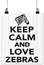 Panels Painting on Canvas Keep Calm and Love Zebras Lettering with Zebra HeadSilhouette Artwork for Kitchen Room,24
