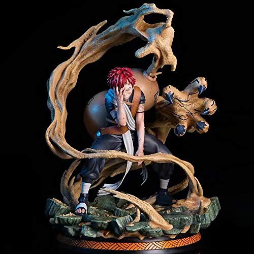 Naruto Gaara Anime Figur Charakter Modell Figurine PVC Statue Alltag Desktop-Dekoration Boxed Spielzeug Geschenk 25cm