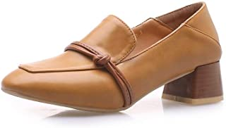 BalaMasa Womens APL11869 Microfiber Block Heels