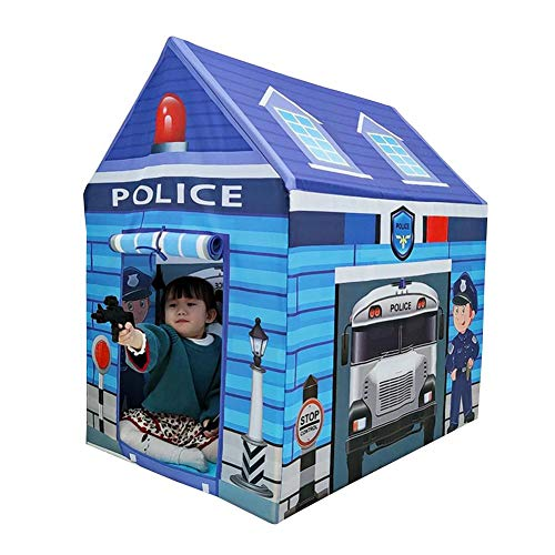 heirao4072 Children's Tent,Kids Playhouse For Boys And Girls,Toddler Police House Play Tent With Roll-up Door And Windows,For Indoor And Outdoor Games