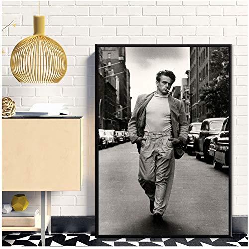 James Dean Lesung Movie Star Poster Malerei Kunst Poster Druck Leinwand Wohnkultur Kunstwerk Dekoration -50x70cm Kein Rahmen