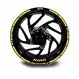 Juego Completo Pegatinas LLANTA para BMW F800R ADESHIVOS Logos + Marca Ambos Lados Amarillo