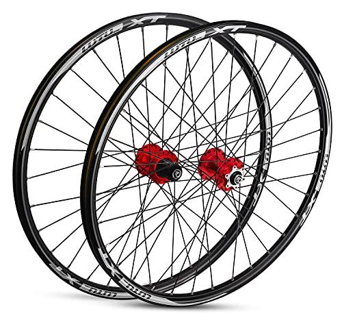 MZPWJD Juego Ruedas MTB 26' 27.5in 29er Ruedas Freno Disco Llanta Bicicleta Ruedas Bicicleta Montaña Accesorios Bicicletas 7 8 9 10 11 Casete Velocidades Qr 32 Radios para Neumáticos 1,75-2,30