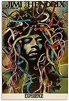 アートパネルギタリストジミヘンドリックス抽象芸術キャンバスアートパネルポスターと壁アートパネル写真プリントモダン家族の寝室の装飾ポスター 50x70cm x1 フレームレス