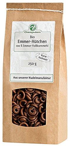 Chiemgaukorn Bio Emmer-Hütchen, 250 g, Nudeln