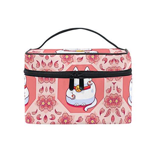 Fortune Pink Kitty Trousse Sac de Maquillage Toilette Cas Voyage Sac Organisateur Cosmétique Boîtes pour Les Femmes Filles