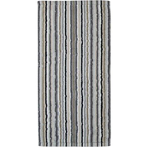 Cawö - Duschtuch, Badetuch - Stripes/Streifen - Kiesel - Baumwolle - 70 x 140 cm
