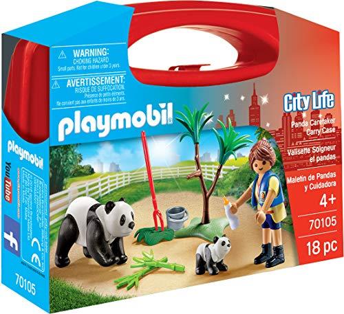 PLAYMOBIL 18 Piece Panda Caretaker Carry Case