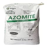 Raw Supply Azomite Organic Trace Mineral Powder-67 Essential Minerals for Your Garden Bulk Fertilizer Powder-Be Green and Grow Your Own Food, 44 lb