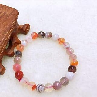 LWQQY Natural Yuhua Stone Agate Bracelet Wrapped Agate Powder Transfer Evil Send Female Hand String Crystal Jade Jewelry