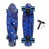 OUDEW Skateboard Complete 22-inch Mini Cruiser Vintage Skateboard for Kids Boys Girls Junior Beginners