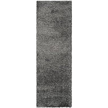 Safavieh California Premium Shag Collection SG151-8484 Dark Grey Area Rug (5'3  x 7'6 )
