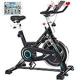 ANCHEER Heimtrainer Hometrainer Fahrrad -Indoor Cycling Bike, 22KG Silent Belt Drive Verchromtes mit...