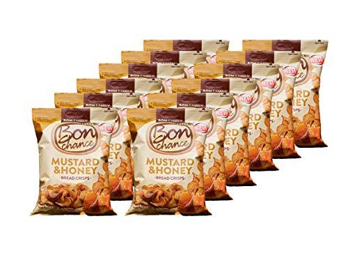 Bon Chance Confezione da 12 snack di patatine al pane (Senape e Miele)