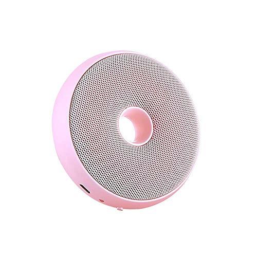 FreeLeben Mini Generador De Ozono Purificador De Aire Doméstico Esterilización Recargable USB Desodorización Tipo De Rosquilla Adecuado para Dormitorio, Automóvil, Oficina, Refrigerador (Rosado)