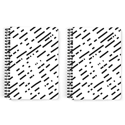 Drapvision Premium Notebooks | Pack of 2 | 300 Pages Total, 150 Pages Each | 80 GSM Fine Paper | Design: Dashed | Dot Grid | A5 (14x20 cms)