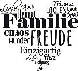 GRAZDesign Wandtattoo Familien - Tattoo als Herz an die