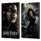Head Case Designs Licenciado Oficialmente Harry Potter Bellatrix Lestrange Deathly Hallows VIII Carcasa de Cuero Tipo Libro Compatible con Amazon Kindle Fire HDX 8.9