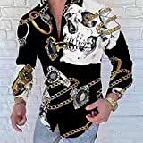 Camisa de Cuadros Fashion MensFloral Royal Shirts LuxuryPrint Shirts Fancy Slim Four Season Party Casual Club Style L YHCS-31